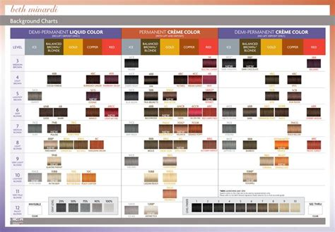 beth minardi color beth minardi signature hair color charts styled shoot