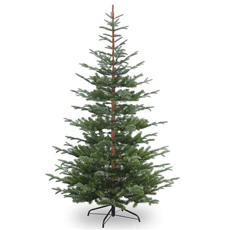 8ft nobleman spruce feel real artificial christmas tree