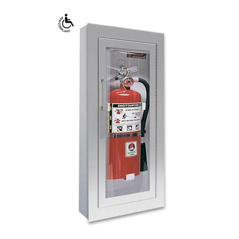 jl industries fire extinguisher cabinets jl clear vu 1526f25 semi recess mounted aluminum 10 lbs
