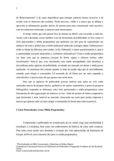 Dias Mba Syllabus artigo cientifico diferen 231 a entre links patrocinados e