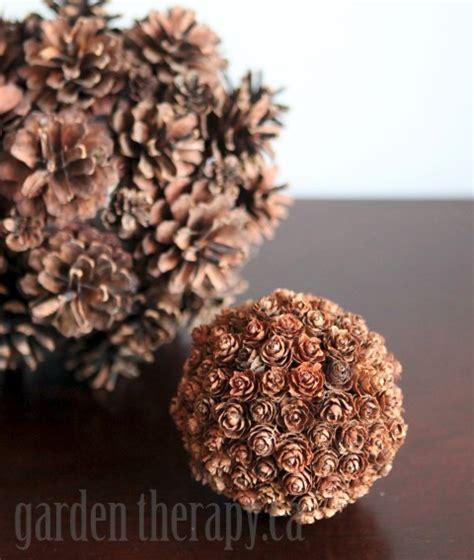 decorative raffia balls diy decor in minutes pinecone spheres