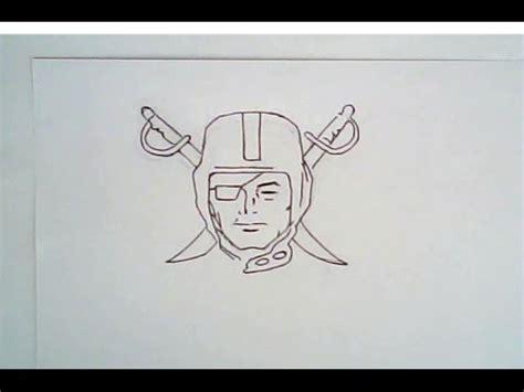 oakland raiders logo drawing youtube