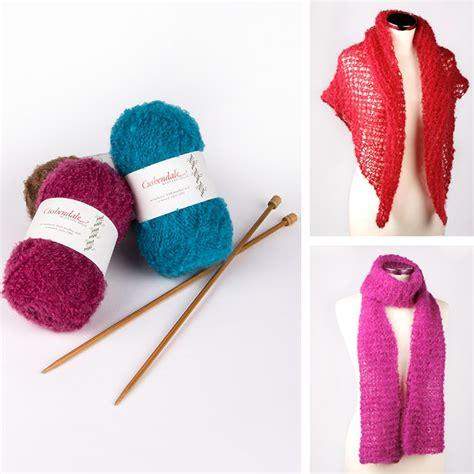 knit pack cushendale scarf or shawl knitting pack