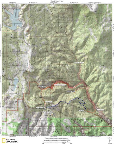 kolob canyon trail map