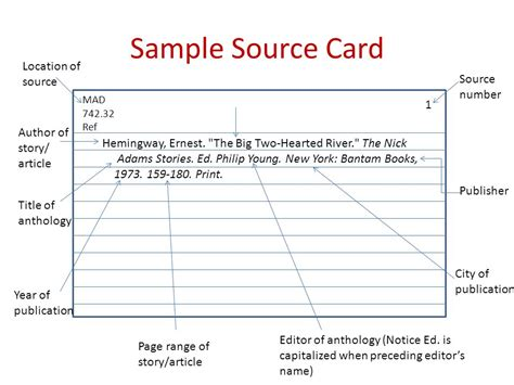 how to make a source card how to make source cards for a research paper 28 images