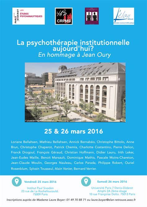 Calendrier Diderot 2016 La Psychoth 233 Rapie Institutionnelle Aujourd Hui Les 25