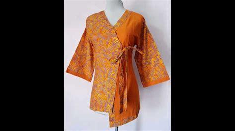 baju batik modern model kimono