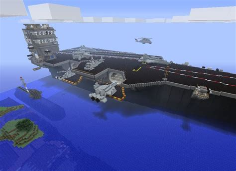 how to make a navy boat in minecraft uss enterprise navy ships carrier destroyer submarine