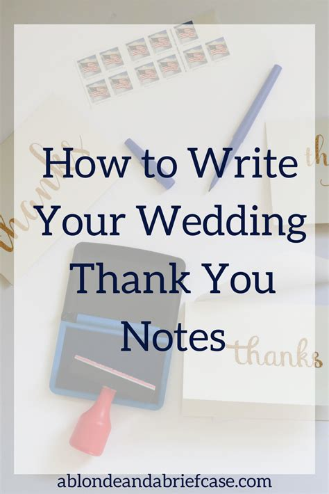 wedding thank you note a a briefcase how to write your wedding thank