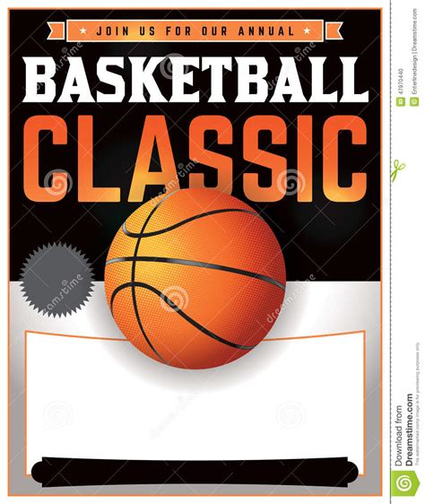 Basketball Tournament Illustration Stock Illustration Image 47970440 Basketball Poster Template