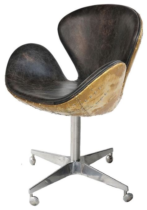 spitfire leather office chair contemporary