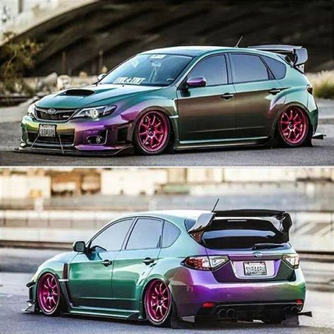 purple subaru impreza chameleon paint cars purple trending ideas 15 mobmasker