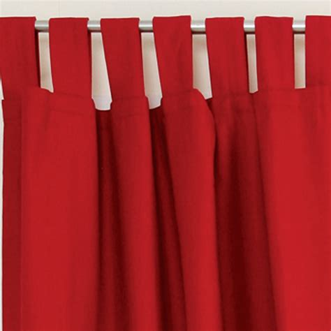 tab top red curtains new pillow talk austin tab top curtain ebay
