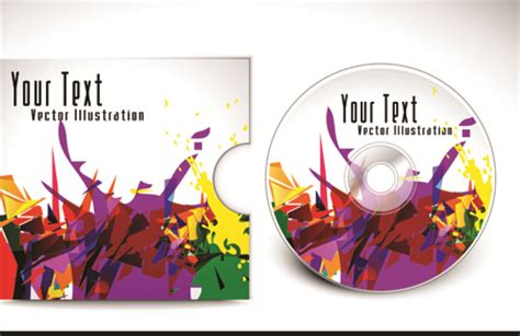 free cd cover layout template abstract cd cover vector background 04 vector background