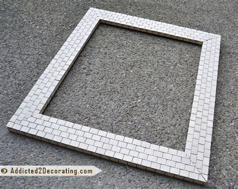 bathroom mirror mosaic frame bathroom makeover day 13 mosaic tile mirror part 2 with