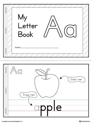 printable alphabet letters books letter a mini book printable myteachingstation com