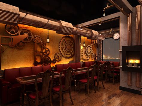 Chonas   Steampunk restaurant on Behance