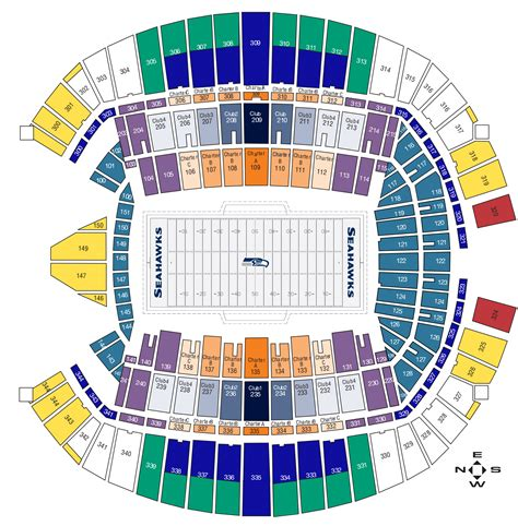 seahawks seating chart with rows image gallery seahawks seating
