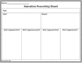 Narrative Essay Writing Graphic Organizers by Narrative Writing Freebie Hippo Hooray For Second Grade