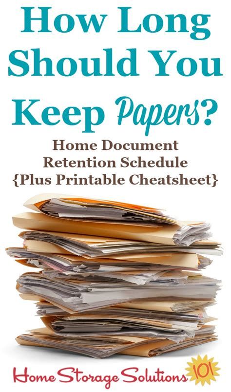 Retention Schedule For Documents