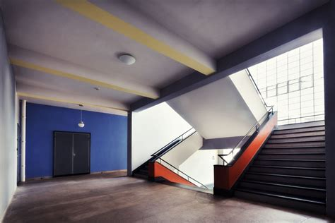 bauhaus interior staircase in the bauhaus in the homeage city of bauhaus