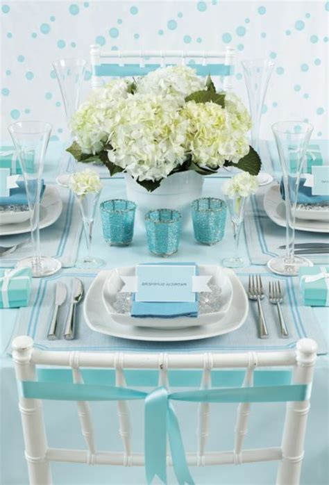Tischdeko Hochzeit Hellblau by Tischdeko In Blau Faszinierende Ideen Archzine Net