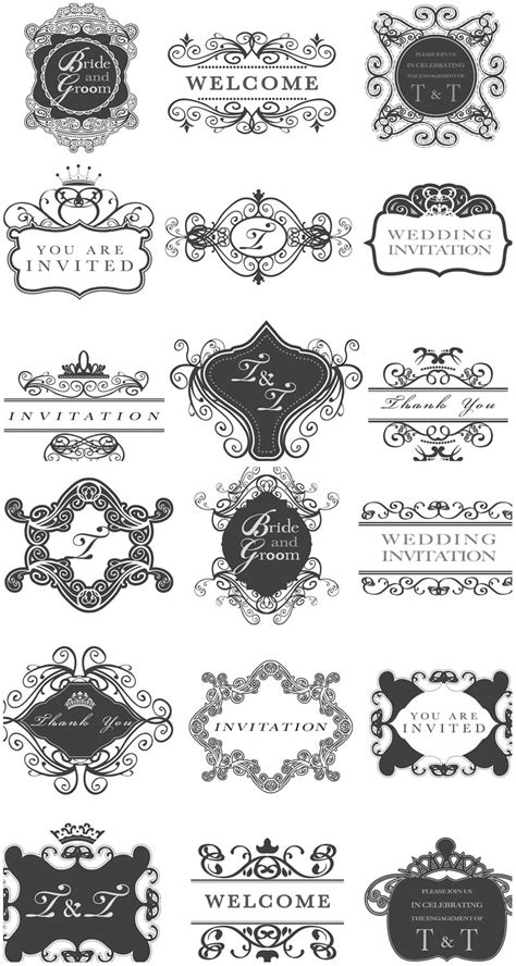 vector wedding invitations wedding vector graphics page 2
