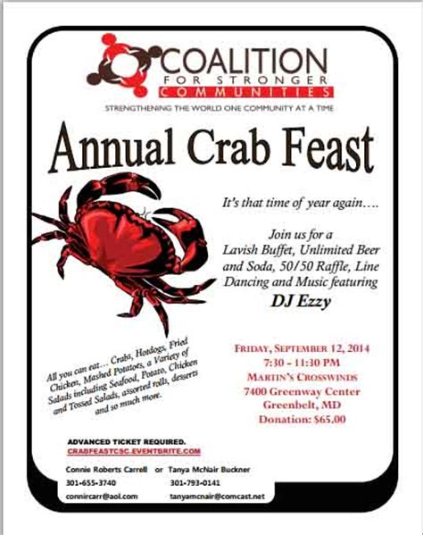 28th Annual Big Feast by 10 Free Crab Feast Flyer Templates To Tantalize Your Taste