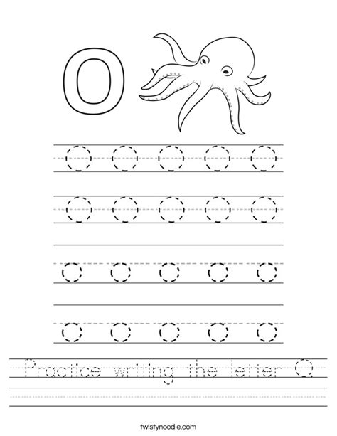 worksheet alphabet o practice writing the letter o worksheet twisty noodle