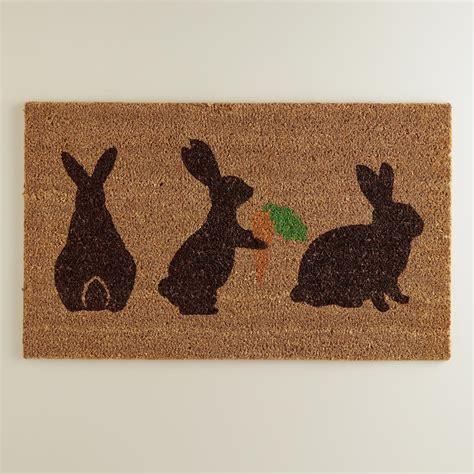 Rabbit Doormat bunny silhouette doormat world market
