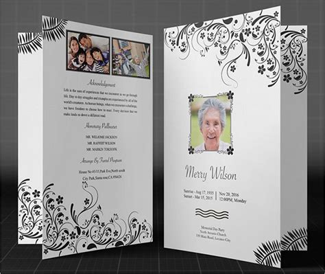 37 Funeral Brochure Templates Free Word Psd Pdf Exle Ideas Funeral Booklet Template Free