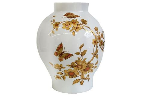 White And Gold Vase by White Gold Vase Decorative Elements