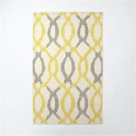 west elm ikat rug ikat links wool rug horseradish contemporary rugs