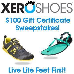 Shoe Gift Card - contest win a 100 xero shoes gift card