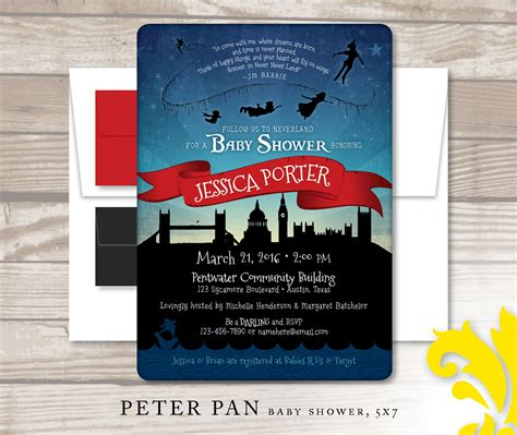 Pan Baby Shower Invitations by Pan Baby Shower Invitation