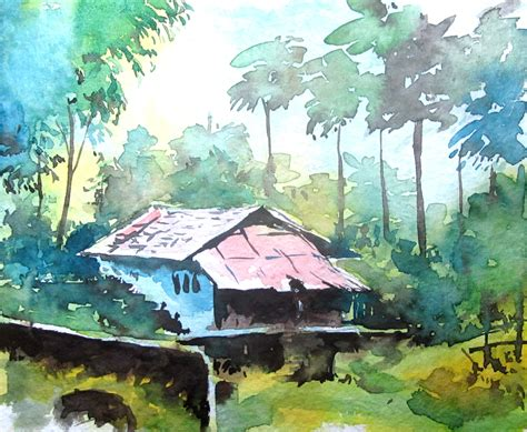 best l for painting simple landscape watercolor paintings for beginner great