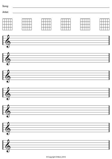 printable staff paper for guitar free blank sheet music bass clef blank sheet music paper