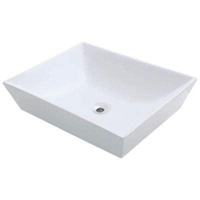 polaris sinks porcelain vessel sink in white p073v w the