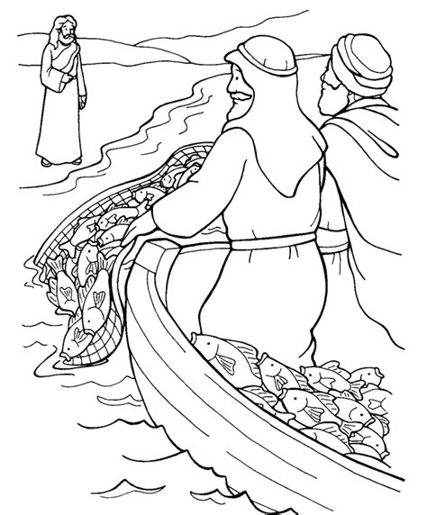 coloring pages jesus in the boat fishing for