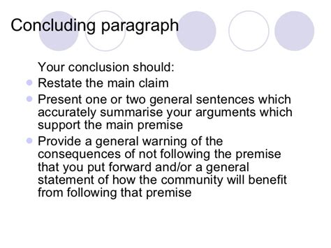 Writing Essay Conclusions by Conclusion Paragraph For A Argumentative Essay Www Iwiwatches