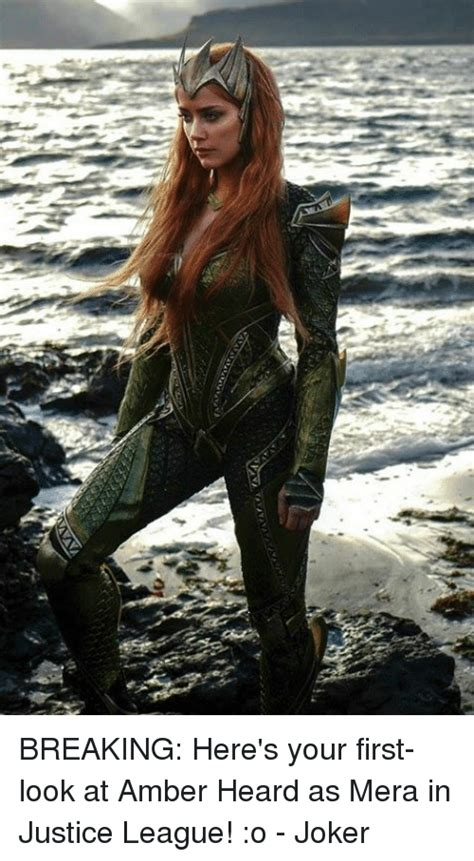 here s your look at breaking here s your look at heard as mera in justice league o joker joker meme