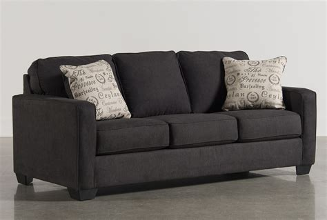 living spaces sofa sleeper alenya charcoal queen sofa sleeper living spaces