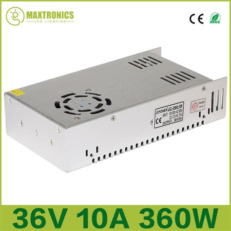 best price 36v 10a 360w universal regulated switching power supply for cctv led radio free
