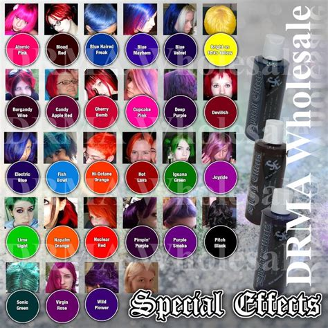 colorists special effects 2 197966241x details about special effects semi permanent vegan hair dye color 4 oz punk rock w free brush