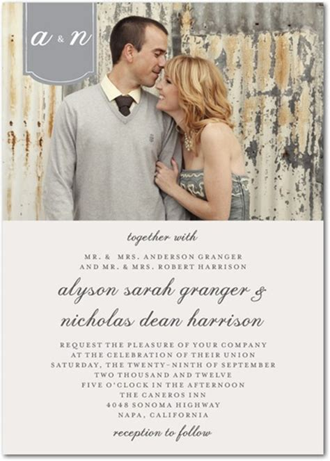 wedding invitations pictures top 5 photo wedding invitations to set the mood for your