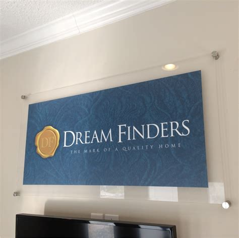 home wall display wall display acrylic dreamfinders homes jacksonville bnsigns combnsigns