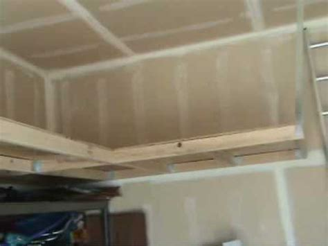 diy hanging garage shelves how to build overhead storage free info