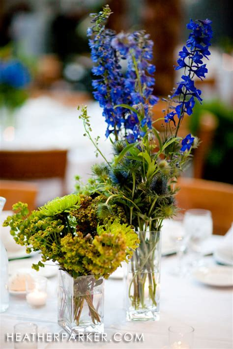blue and green wedding centerpieces wedding decorations
