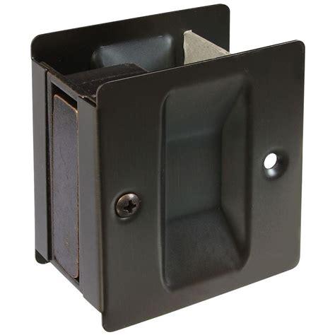 Home Depot Pocket Door Hardware by National Hardware Antique Bronze Pocket Door Pull V1950