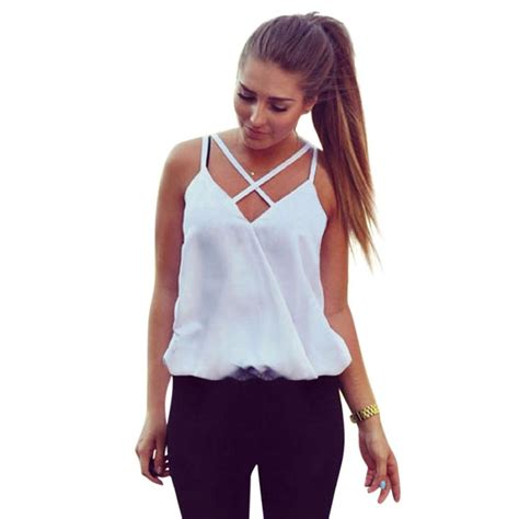 Blouseoutfit Galery Top fashion summer vest top sleeveless shirts blouse casual tank tops casual blouse in blouses